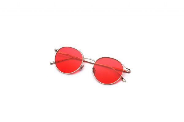 Shiny Silver/Crimson Red