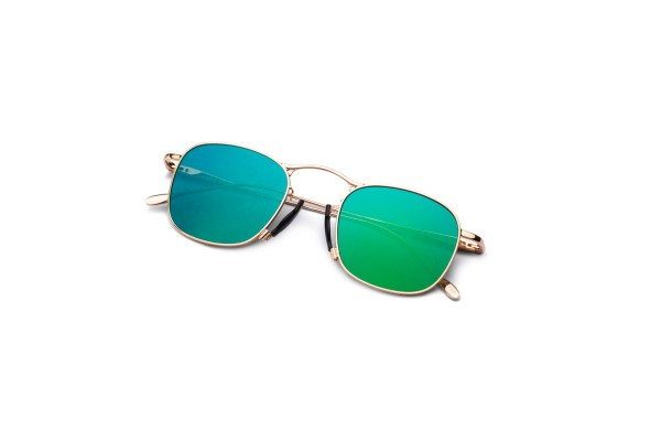 Shiny Gold/Green Silver Mirror
