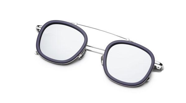 Navy Blue-Silver/Silver Mirror