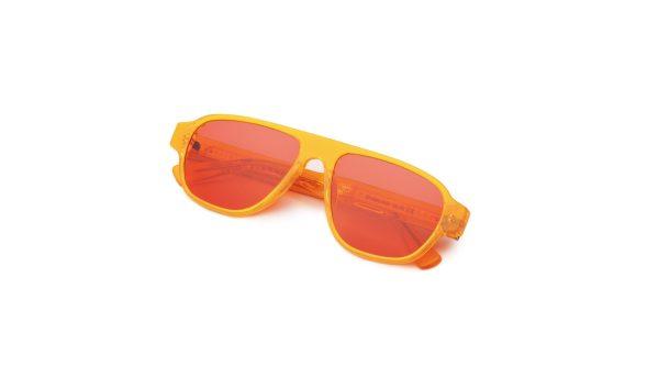 Transparent Orange/Crimson Red