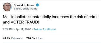 Twitter Post von Donald Trump