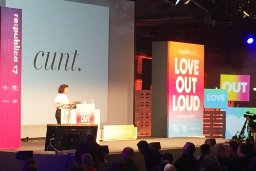 """Caroline Sinders, """"Emotional Trauma, Machine Learning and the Internet"""", Love Out Loud – Republica 2017"""