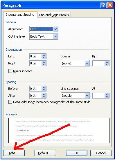 Cara Membuat Titik Titik Daftar Isi Otomatis Pada Ms. Word