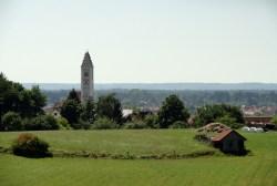Altkissing mit Lechfeld und Naturpark Augsburg Westliche Wälder im Hintergrund