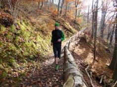 Herrliches Laufen im Herbst am Lechhöhenweg