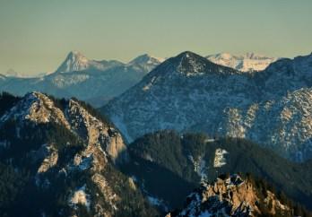 Ammergauer Alpen vor dem prägnanten Guffert