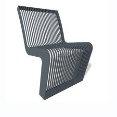 Linea en acier chaise