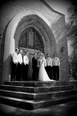 The Groom, Groomsmen and Bride