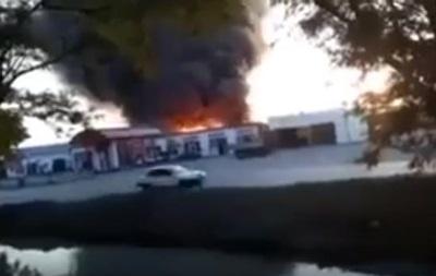 Взрыв на АЗС в России попал на видео