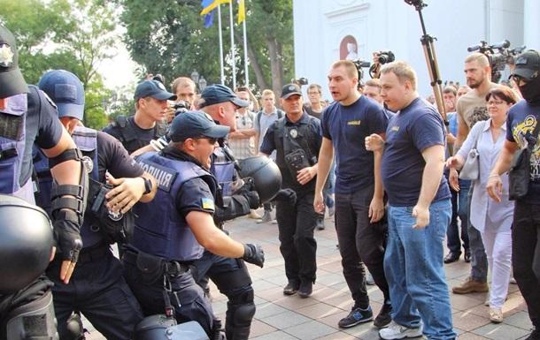Пожар в Одессе: у горсовета произошла потасовка