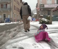 Юг Франции накрыло майским снегом