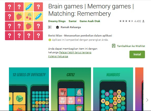 Brain games | Memory games | Matching : Remembery