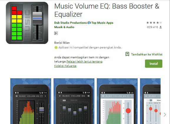 Music Volume EQ : Bass Booster & Equalizer