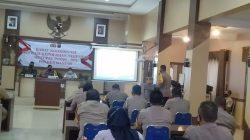 Rakor Kabupaten Banjar untuk pengamanan Lebaran Idulfitri 1442 Hijriyah. (Sumber Foto: Kominfo Banjar)