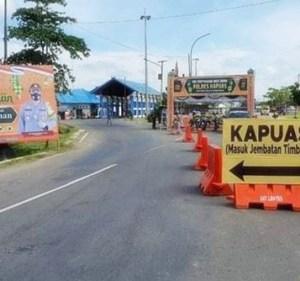 Penyekatan Pangkalan Bun Menuju Banjarmasin Dibuka Mulai 3 Juni