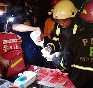 Api Berkobar di Dua Lokasi Sungai Tabuk, 1 Relawan BPK Cidera
