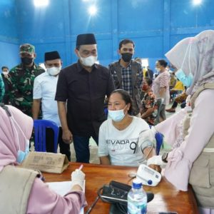 Bupati Zairullah Kunjungi Empat Kecamatan Pelaksana Vaksinasi