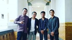 Empat pemuda asal Kabupaten HST mendapatkan juara lomba. (foto: ramli)