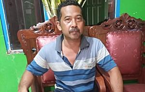 Haji Hasan Ketua RT 11, Gang Bakti.(foto: leon)