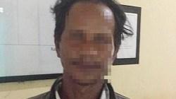 Tersangka pelecehan seksual anak di bawah umur diamankan polisi. (foto: borneo24/koranbanjar.net)
