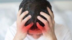 Ilustrasi sakit kepala atau pusing karena kolesterol tinggi. (Shutterstock)