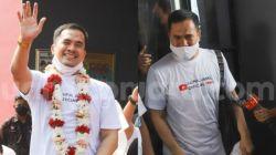 Ekspresi bahagia Pedangdut Saipul Jamil saat meninggalkan Lembaga Permasyarakatan Cipinang, Jakarta Timur, Kamis (2/9/2021). [Suara.com/Alfian Winanto]