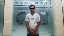 Tersangka pengedar sabu yang ditangkap dari Kelurahan Guntung mengaku berinteraksi dengan Napi Lapas untuk beli dari bandar di Samarinda. [KlikKaltim.com]