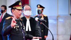 Kapolri Jenderal Listyo Sigid Prabowo mengikuti upacara pelantikan yang dipimpin Presiden Joko Widodo di Istana Negara, Jakarta, Rabu (27/1/2021). [ANTARA FOTO]