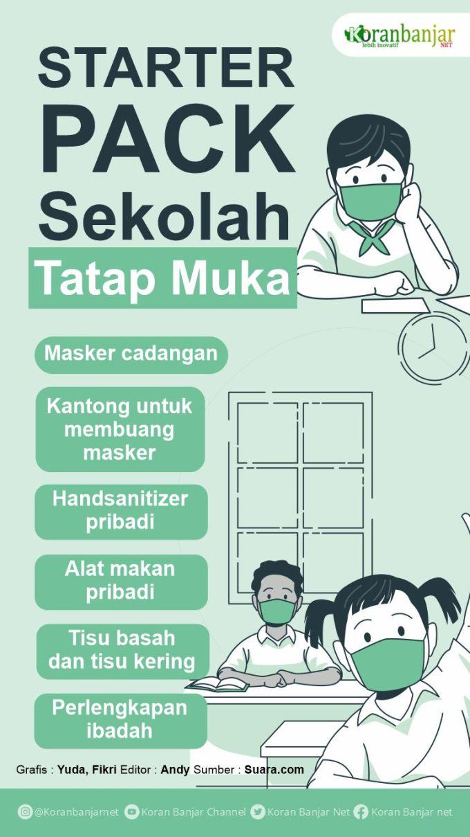 Infografis: Starter Pack Sekolah Tatap Muka