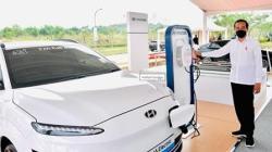 Jokowi berharap pembangunan pabrik baterai ini bisa mempercepat hilirisasi dan industrialisasi di Indonesia (Biro Setpres RI)