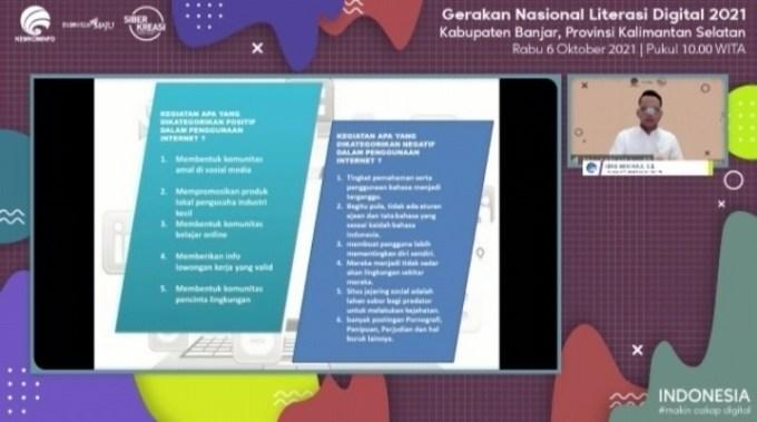 Webinar Literasi Digital Kabupaten Banjar