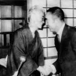 Yasunari Kawabata y Yukio Mishima en 1968