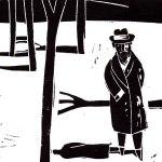 'Retrato de Baroja con abrigo', de Jesús Marchamalo