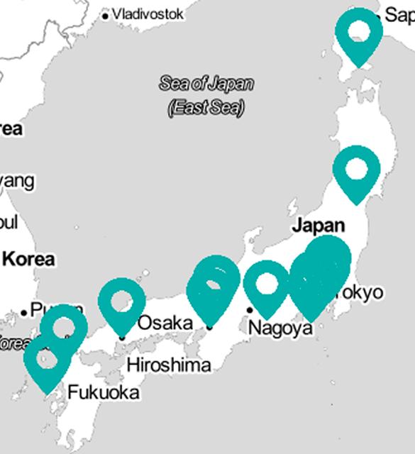 Mapa para viajar por Japón a través de sus libros