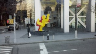 A touch of Keith Haring in the Financial District of NYC