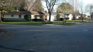 HUGE Street... no crosswalk...