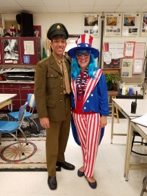 Armed Forces and USA Day! Mr. Korb and Ms. Smith! SALUTE TO THE USA!