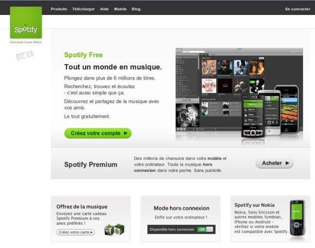 Spotify sans invitation