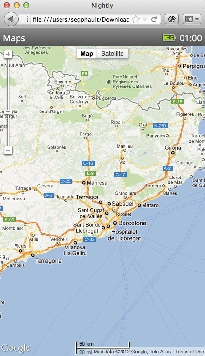B2G sample map application