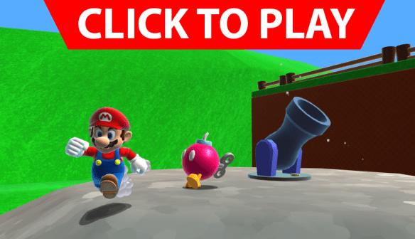 Click to play Mario 64 webplayer