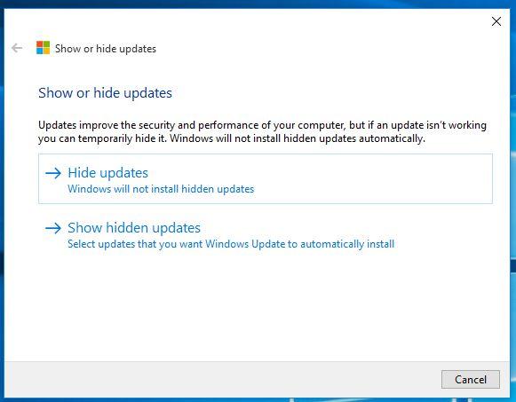 block updates windows 10