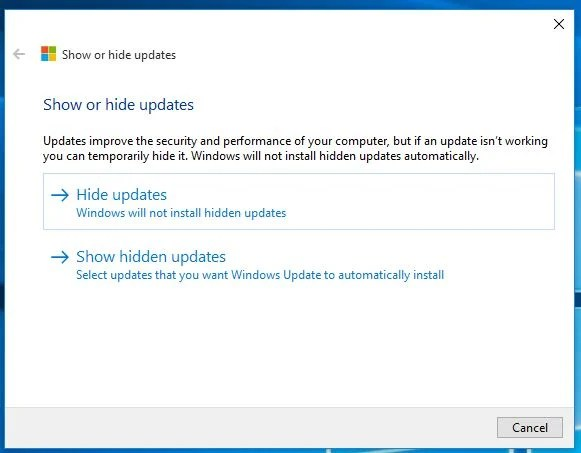 block updates windows 10