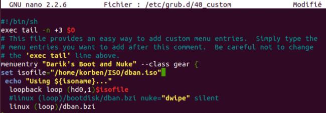 dban1 650x225 Booter sur une ISO directement depuis Grub et mettre en place un mode dauto destruction sur votre PC