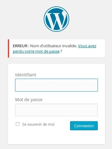 Sécuriser WordPress – Masquer les erreurs de login