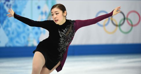 South Korea's Kim Yu-Na performs in the Women's Figure Skating Free Program at the Iceberg Skating Palace during the Sochi Winter Olympics on February 20, 2014. AFP PHOTO / DAMIEN MEYER