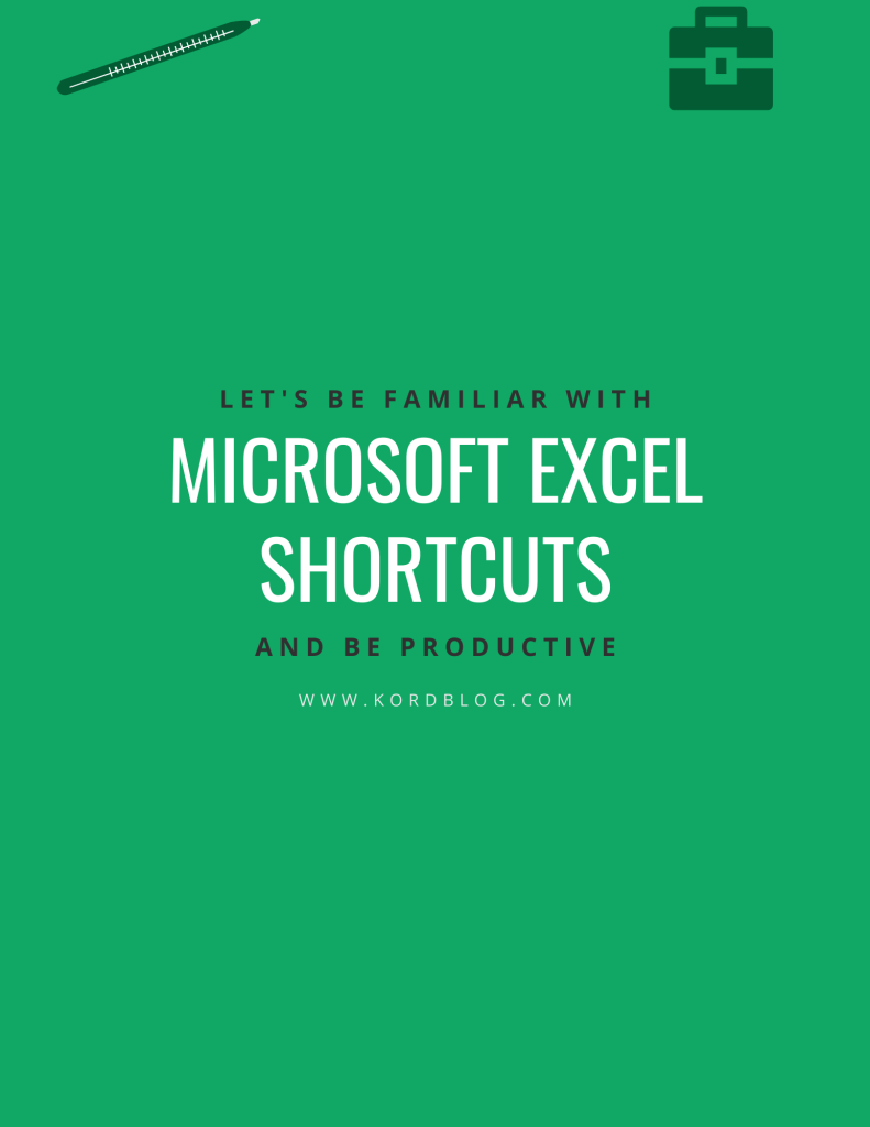 Microsoft Excel shortcuts book ccover