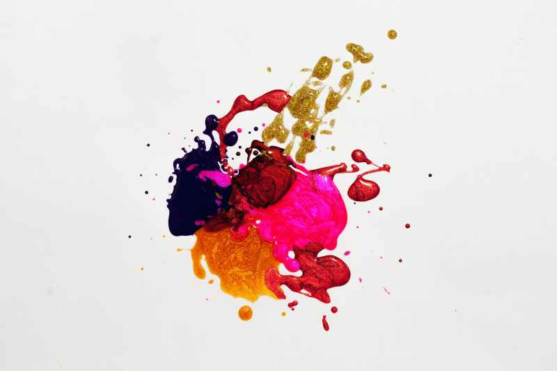 photo of multicolored abstract painting