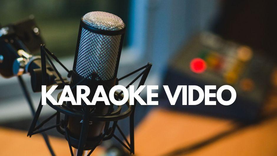 You can create karaoke video