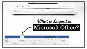 Layout in Microsoft Word and Excel