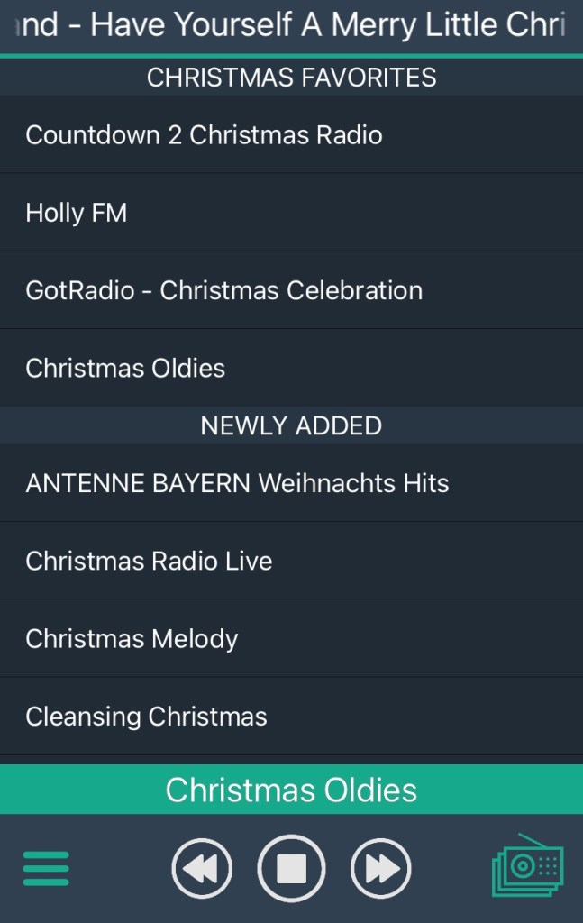 Screenshot of Christmas Radio+